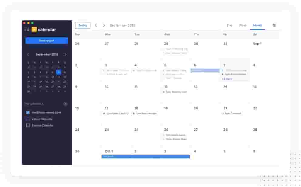 Schedule meetings and organize your day with a help of a calendar